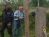 återskapning av staket vid tomtgräns